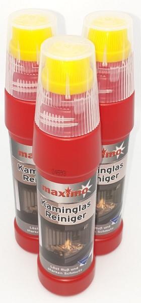 3x Spezial maximo Kaminglas Reiniger gegen Ruß und Schmutz je 200ml