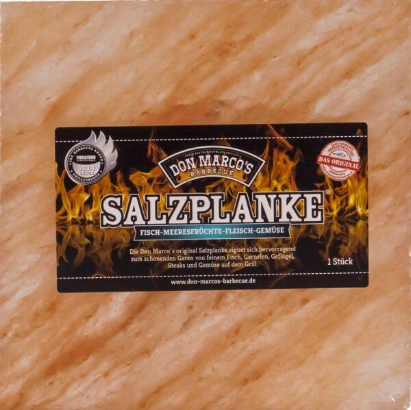Original Salzplanke® ~ L ~ 20 x 20 x 2,5 cm ~ für Fisch - Garnelen - Geflügel - Steaks und Gemüse