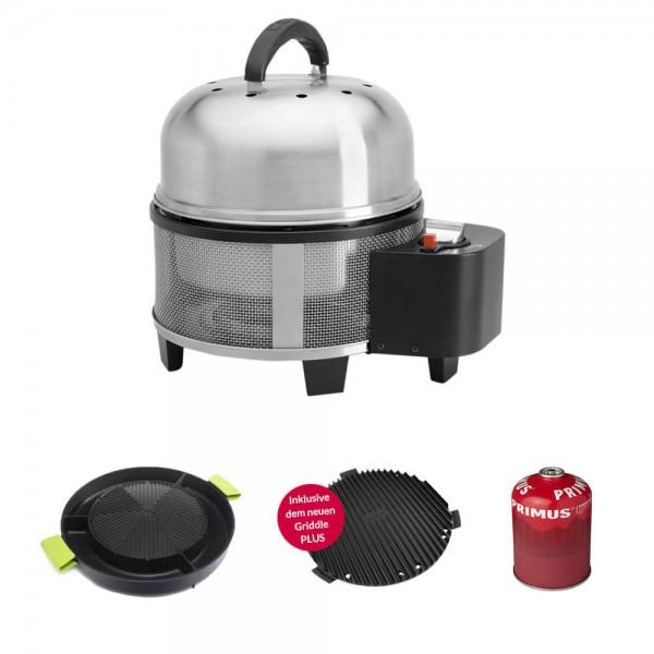 Cobb Premier Gas DELUXE Grill Multifunktionsküche inkl. MooVita Kombi Grillplatte + Kartusche 450g