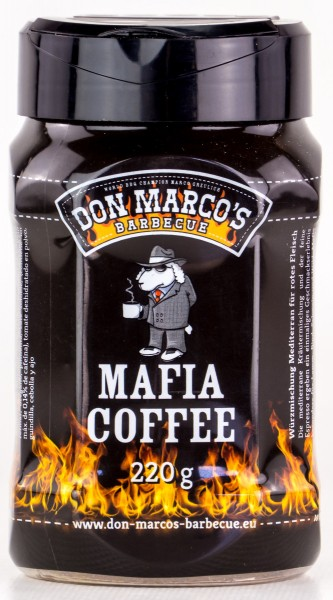 Don Marcos Mafia Coffee BBQ Rub Grillgewürz in 220g Streudose