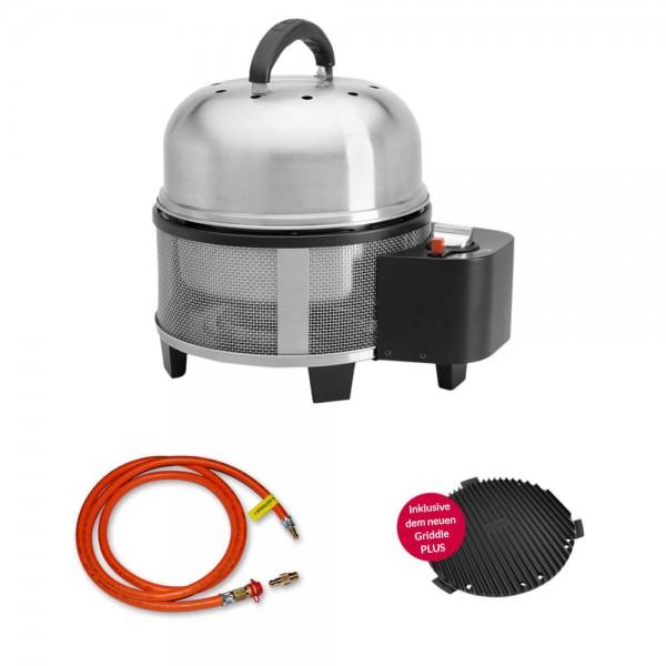 Cobb Premier Gas DELUXE Grill Multifunktionsküche inkl. 1,5m Gas Schlauch für Gas - Außensteckdose