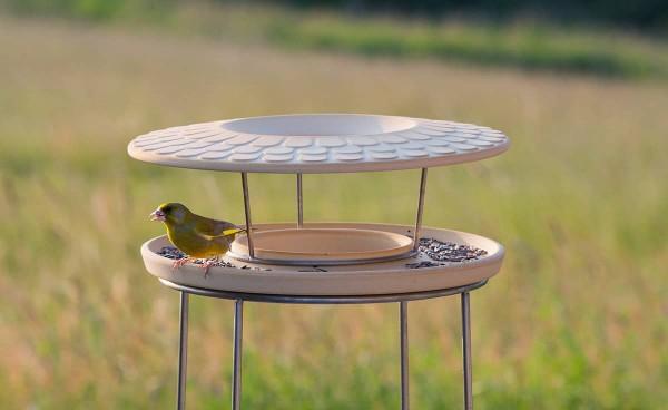 Set Futterhaus mit Ständer aus CeraNatur® Keramik - FUH+ST