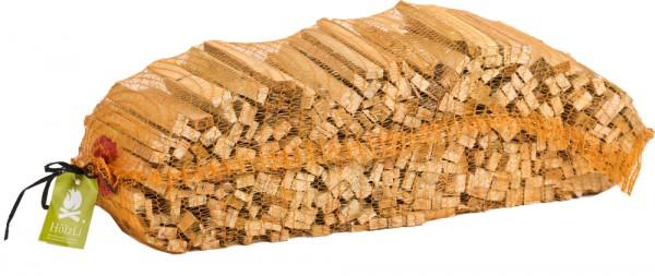 HölzLi Anzündholz - Anfeuerholz aus Fichten- und Kieferholzstäbchen 22 Rdm im Sack