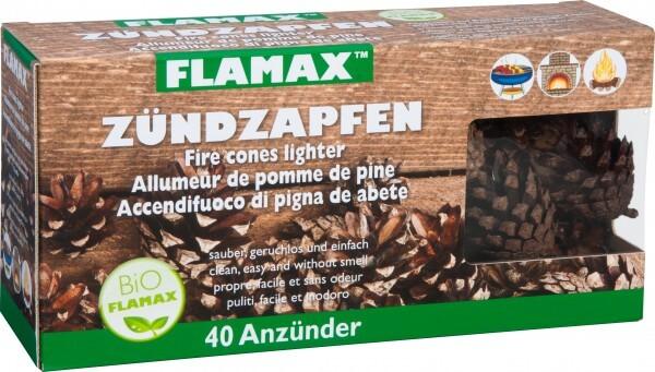 ZÜNDZAPFEN hergestellt auf Basis von natürlichen Zapfen (40 Stück)