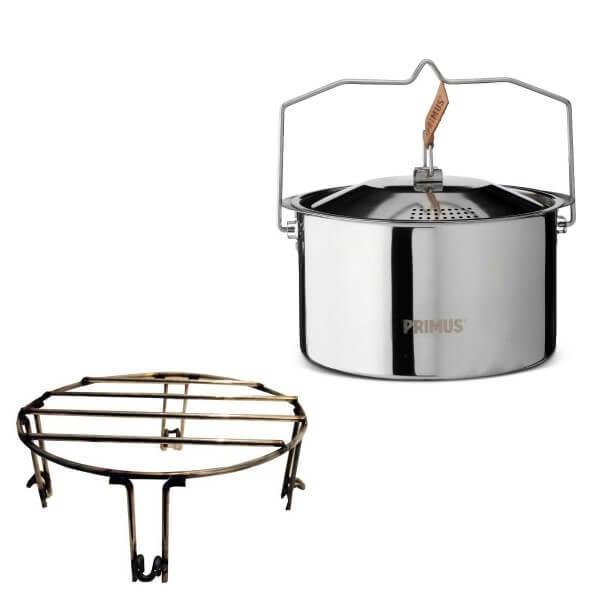 Cobb Grill Zubehörpaket 12 - Topfeinsatz + 3 Liter Edelstahltopf Campfire - 2-teilig