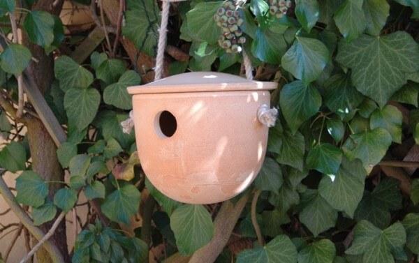 Vogelhaus - Nisthöhle für Zaunkönig und Meisen aus CeraNatur® Keramik - ZKH