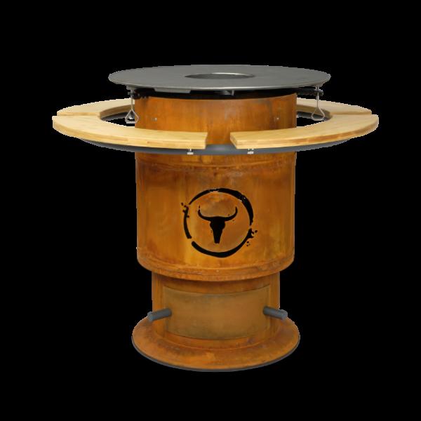 Moesta Bandit FirePlace 57 cm Durchmesser inkl. BBQ Disk und Ablagebretter