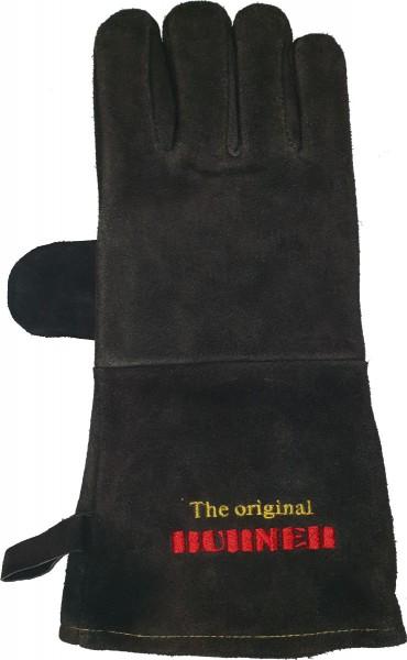 Hitzeschutzhandschuh für Grill und Kamin ca. 35 cm lang aus Rinderleder