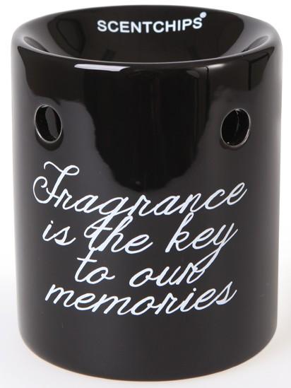 Scentburner - Schmelzlampe - Schmelzlicht Text Black / White ~ Fragrance... ~ w8.5 x h10cm