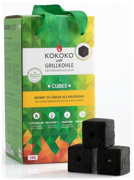3KG KOKOKO CUBES für Cobb Holzkohlegrill & Minion-Ring & Dutch Oven