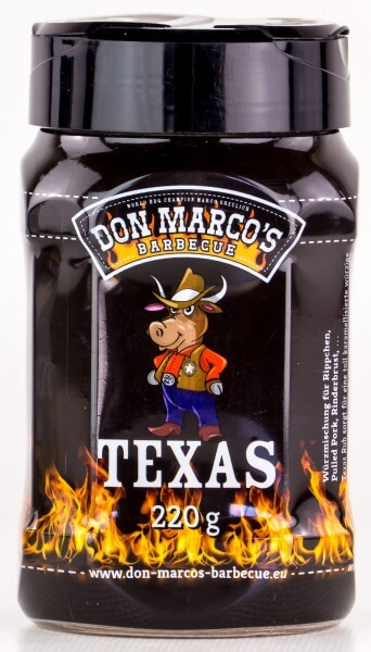 Don Marcos Texas Style BBQ Rub Grillgewürz in 220g Streudose