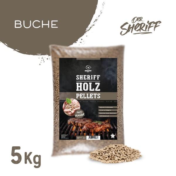 Moesta BBQ Buche Hartholz Sheriff Pellets 5 kg