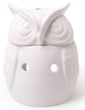 Scentburner - Wachs - Schmelzlampe - Schmelzlicht - Owl Burner w12 x h15cm White