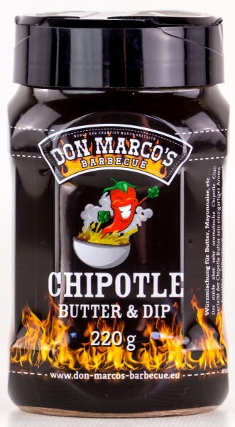 Don Marcos Chipotle Butter & Dip BBQ Rub Grillgewürz in 220g Streudose