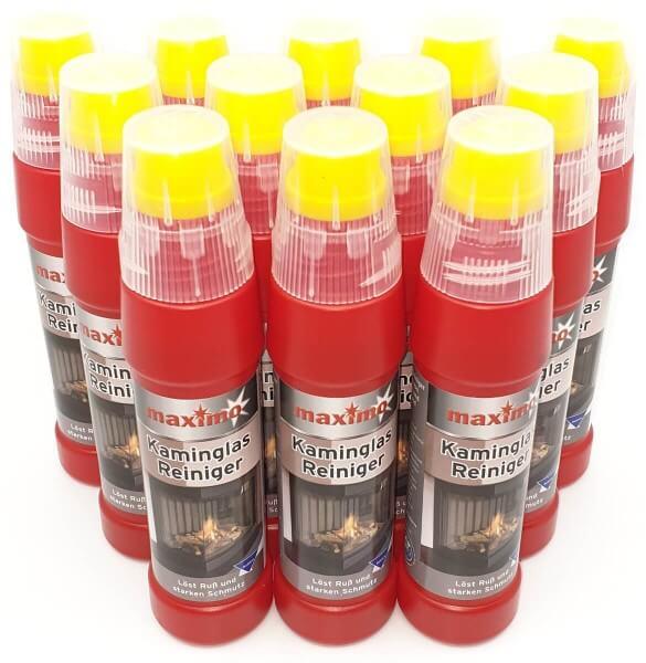 12x Spezial maximo Kaminglas Reiniger gegen Ruß und Schmutz je 200ml