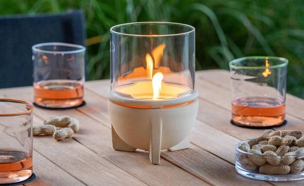 Schmelzfeuer Indoor CeraNatur mit Windglas-Aufsatz ~ SFDI+WLA