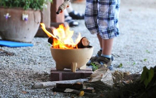 Zwergenfeuer - Die Feuerschale für Kinder aus CeraFlam® Keramik - ZF