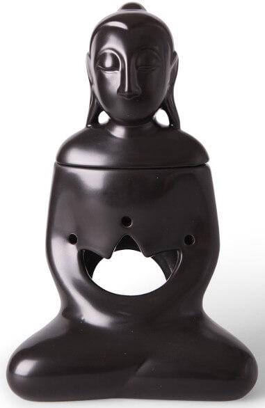 Scentburner - Wachs - Schmelzlampe - Schmelzlicht - Buddha Mat Black h24 x d15cm