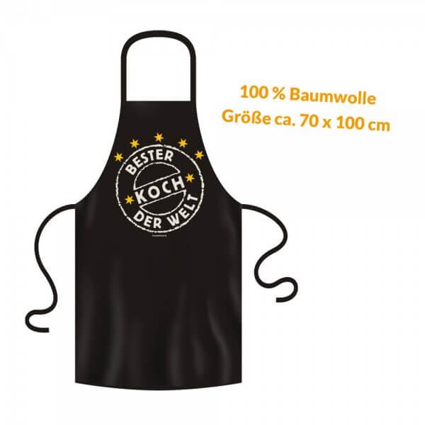 Grillschürze - Küchenschürze - Kochschürze ~ Bester Koch der Welt ~ (2938)