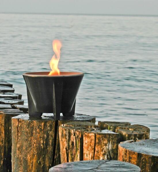 Schmelzfeuer Outdoor CeraLava® - Die windsichere Gartenfackel aus CeraLava® - SFC