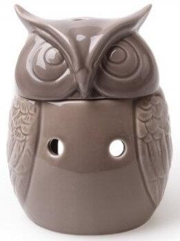 Scentburner - Wachs - Schmelzlampe - Schmelzlicht - Owl Burner w12 x h15cm Taupe