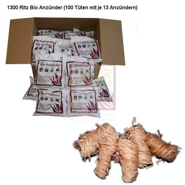 Kamin & Grill Feuer Anzünder - Kaminanzünder für Holz & Kohle - Menge: 100x Tüte Kaminanzünder (1300 Stück)