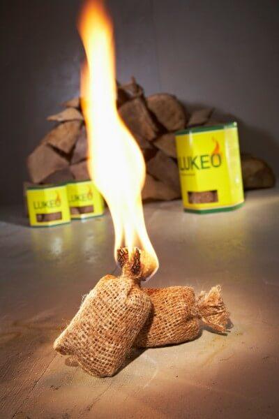 Lukeo Feueranzünder - Umweltfreundlich und sauber - mit extra langer Brenndauer (14 Anzünder)