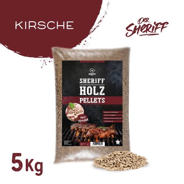 Moesta BBQ Kirsche Hartholz Sheriff Pellets 5 kg