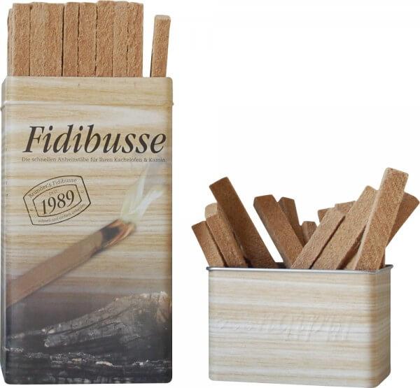 Brunner Fidibusse in nostalgischer Blechdose (50 Anzünder)
